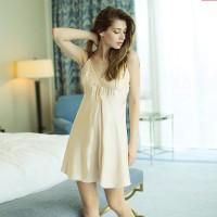 V領蕾絲荷葉邊性感睡衣 吊帶開叉情趣內衣
