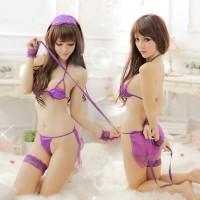 女王情趣內衣演繹紫色囚禁av制服內衣
