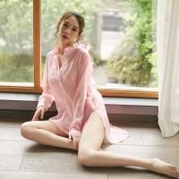 時尚歐美雪紡性感睡衣(圖色)