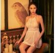 露背性感成人情趣內氣質蕾絲網紗裝少女士裝睡裙(圖色)