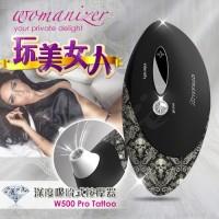 德國Womanize Pro 玩美女人 仿口交 深度吮吸按摩器 紋身黑
